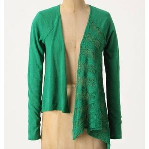 ANTHROPOLOGIE Knitted & Knotted pull through cardi